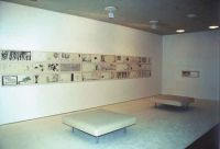 From Wonderland with Love - 2003. Installation view Aros. Aarhus Kunstmuseum, Aarhus, Denmark. 50 drawings, felt-tip pen on paper. Framed two by two.