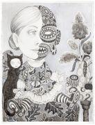 'Grey Area': THE PAUSE / PAUSEN  - 2015, 76 x 57 cm., Ink, pencil, salt on paper.