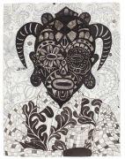 Youth 7 - Udsmykning på Marselisborg Gymnasium: Youth no. 7, 2016, blæk og blyant på papir. 50 x 38 cm.