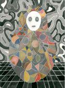 Somebody - 2015, 31 x 23 cm., Akvarel og tusch på papir.