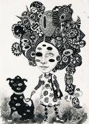 Exotic - 2015, 32 x 26 cm., Tusch og blyant på papir.
