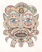 Mask - 2015, 103 x 72 cm., Tusch og akvarel på papir.