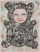 Minkisi - 2015, 103 x 72 cm., Tusch og akvarel på papir.