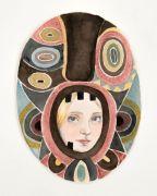 Maske /Mask - Akvarel på papir.2018. 21x28 cm