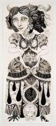 Monster nr. 1 (Queen) - Tusch og blyant på papir. 2018. 70x171 cm