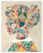 Profil. 2. / Profile 2 - Akvarel på papir. 2017. 48x38 cm.