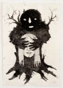 Træmonster / Wood Monster - Tusch og blyant på japanpapir. 2018. 27x19,5 cm
