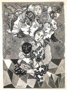 Passage - 36x26 cm, Tusch og blyant på papir, 2019