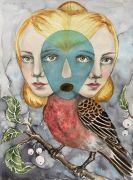 Early Bird - 2020, 41x31 cm, Akvarel på papir