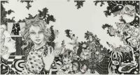 The Bad Girl - 98x180 cm. Felt-tip pen, pencil and poscapen on paper.