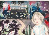 The Sleepwalker - 33x45.5 cm. Watercolour on paper