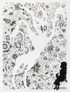 Ghost - 115x185 cm. Akvarel og blyant på papir.