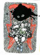 Little Mummy 1_ (The_Chair) - 2011, akvarel og filtpen på papir, 38 x 30 cm.