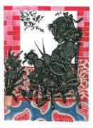Red Room (Silhuet) - 2011, mixed media, 32 x 25 cm.