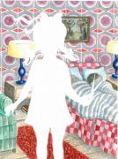 The_Bedroom - 2011, akvarel og filtpen på papir, 38 x 30 cm.