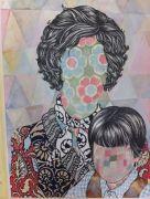 Mona & Tobias - 2012, 57x42 cm. Felt-tip pen and watercolor on paper.