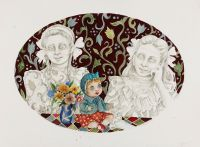 The_Norwegian_Sisters - _2013, 76 x 57 cm. Watercolour and Indian Ink on paper.