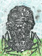 Common House Spider - 2014, 31 x 23 cm., Akvarel, tusch og blyant på papir.