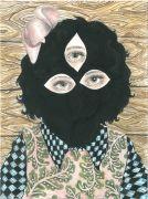 Girl Portrait - 2014, 31 x 23 cm., Akvarel, tusch og blyant på papir .