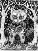 Starlit_Night - _ 2014, 31 x 23 cm., tush og blyant på papir.